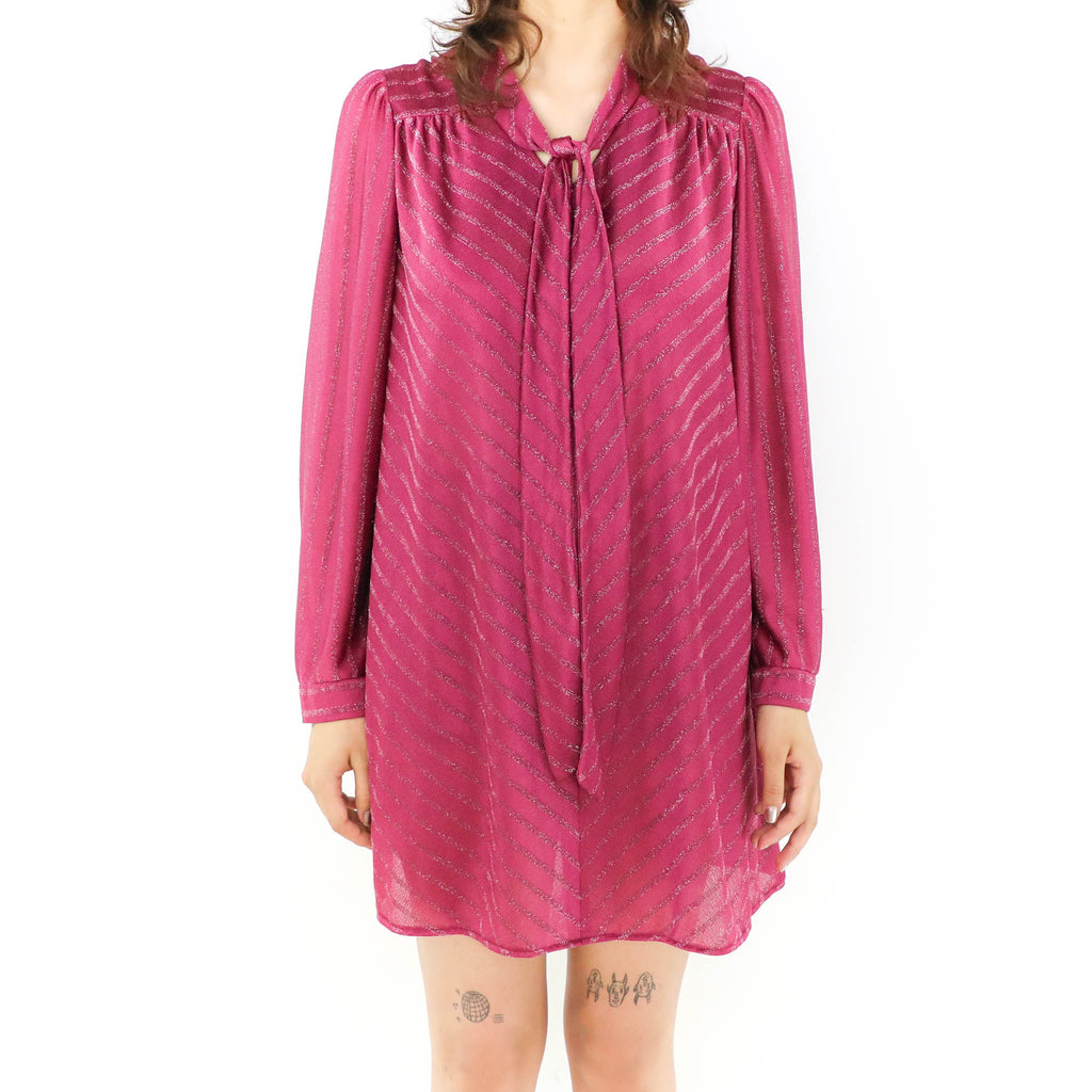 Long Sleeve Magenta Mini Dress