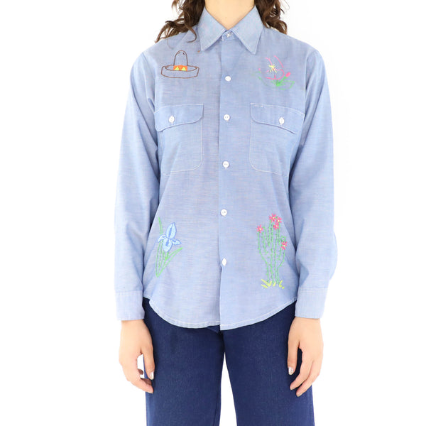 Bird & the Bugs Embroidered Shirt