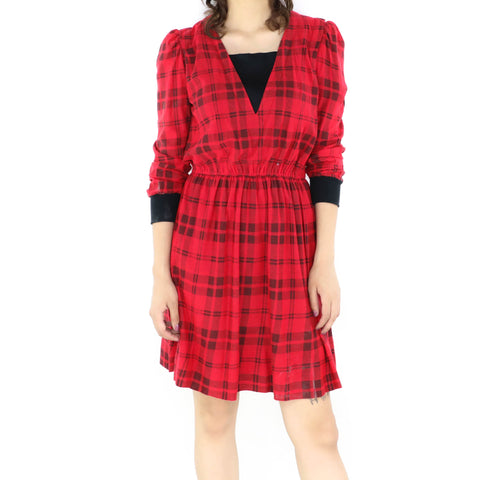 Scarlet Plaid Dress