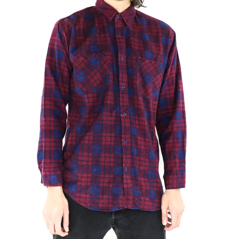 Mulberry Berry Plaid Shirt