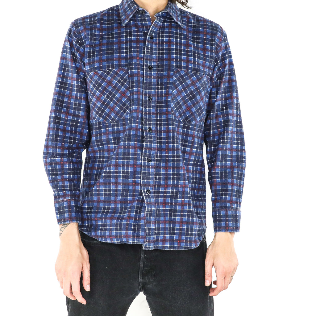 Boysenberry Blue Tartan Shirt