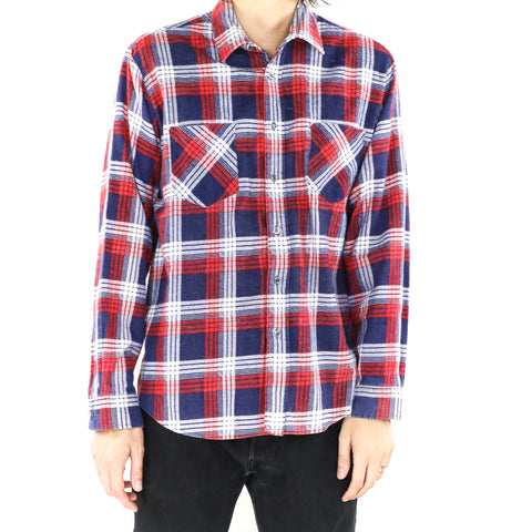 White Red & Blue Flannel Shirt