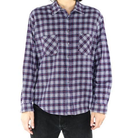 Midnight Blue Plaid Shirt