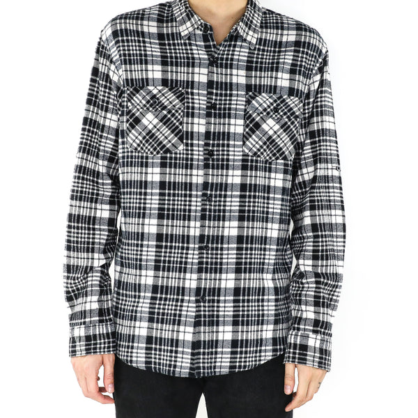 Black & White Plaid Shirt
