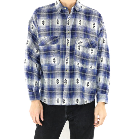 Steel Blue Plaid Shirt