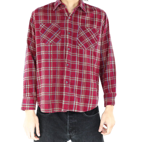 Rose Red Plaid Shirt