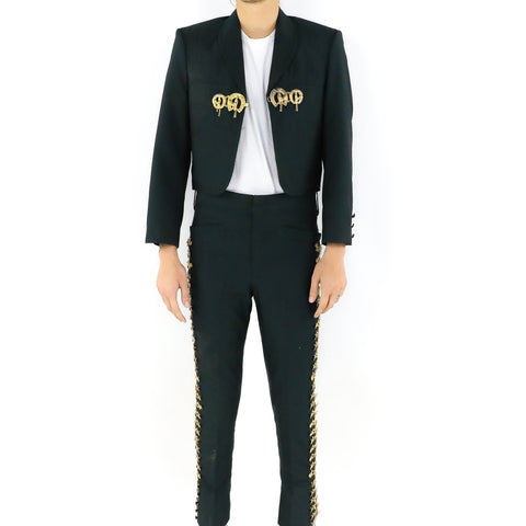 Dark Green Charro Suit
