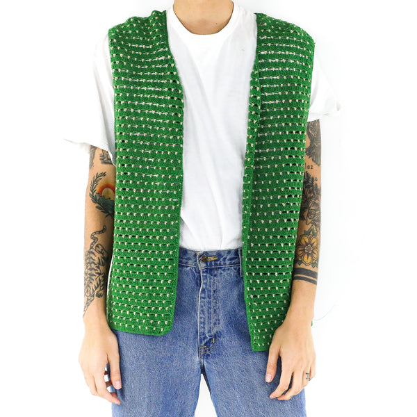 Shamrock Green Knitted Vest