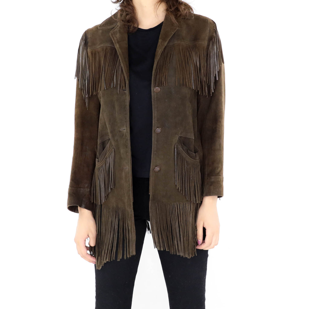 Walnut Fringe Jacket