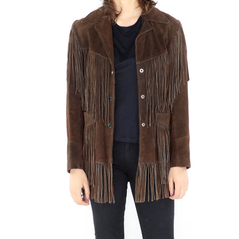 Chocolate Fringe Jacket