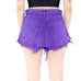Electric Purple Distressed Shorts