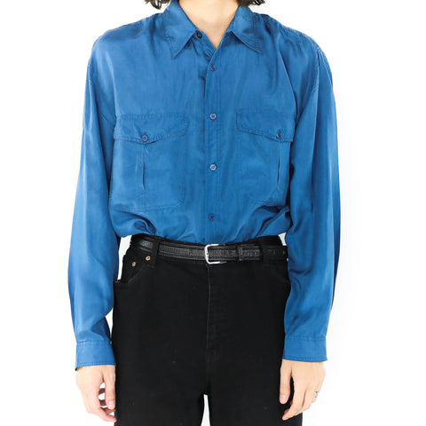 Silky Persian Blue Shirt