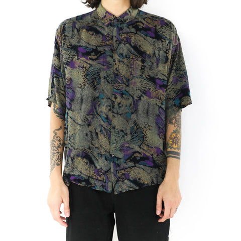 Olive Indigo Abstract Shirt