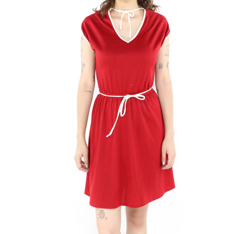 Red & White Laces Dress