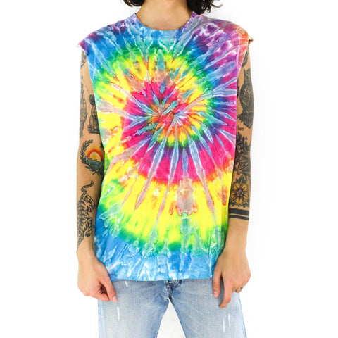 Multicolor Spiral Muscle Shirt