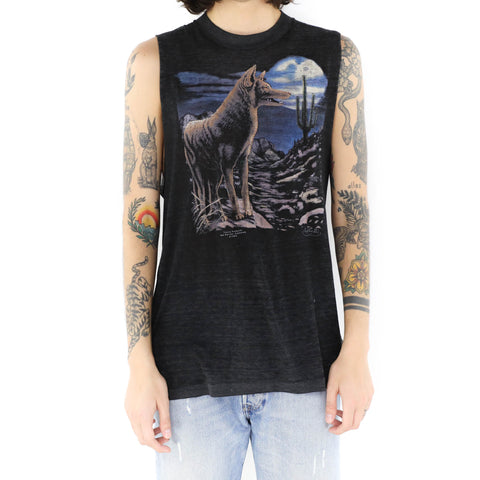 Coyote at Night Muscle Shirt