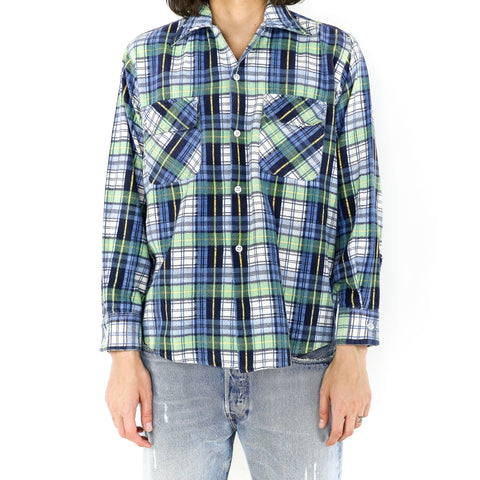 Mint Blue Plaid Flannel