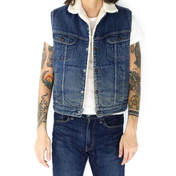 Denim & Lambswool Vest