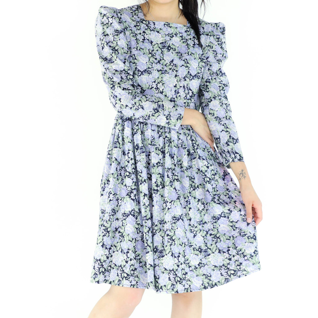 Blue Flowered Dress