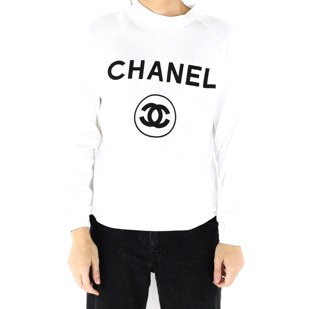White Chanel Crewneck