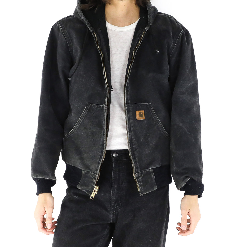 Black Denim Carhartt Hooded Jacket