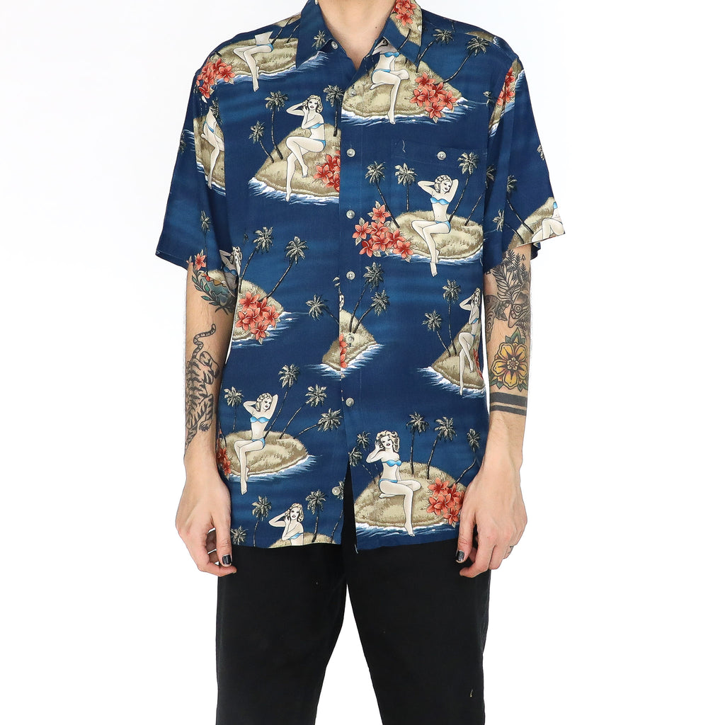 Woman in an Island Shirt