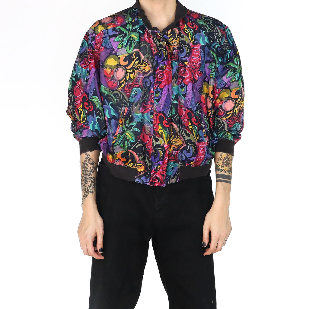 Jungle Flowers Bomber