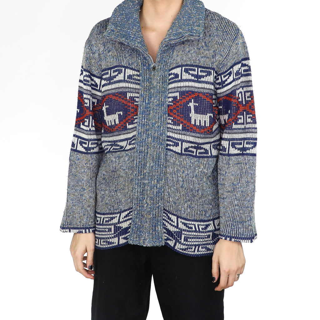Blue Machu Picchu Sweater