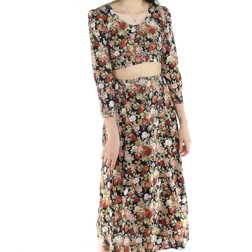 Floral Journey Blouse & Skirt Set