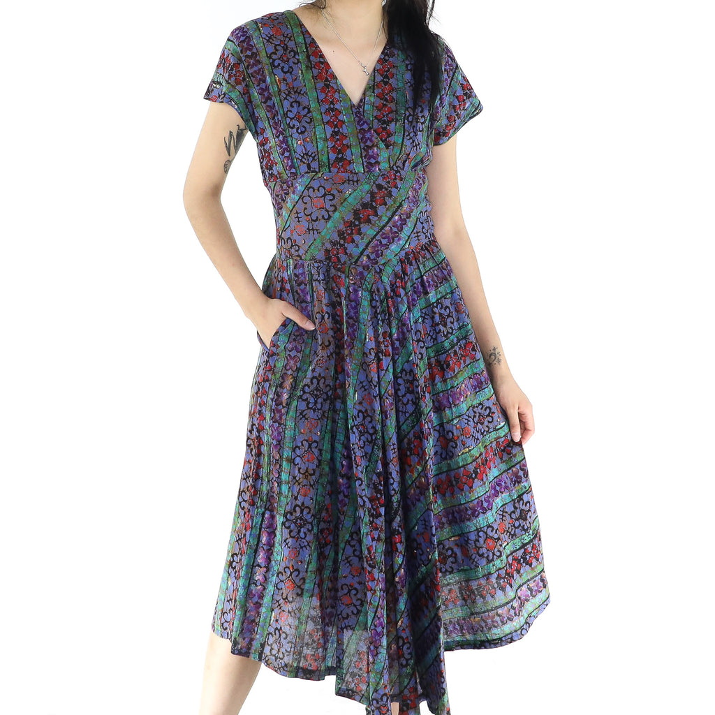 Multicolor Waved Pattern Dress