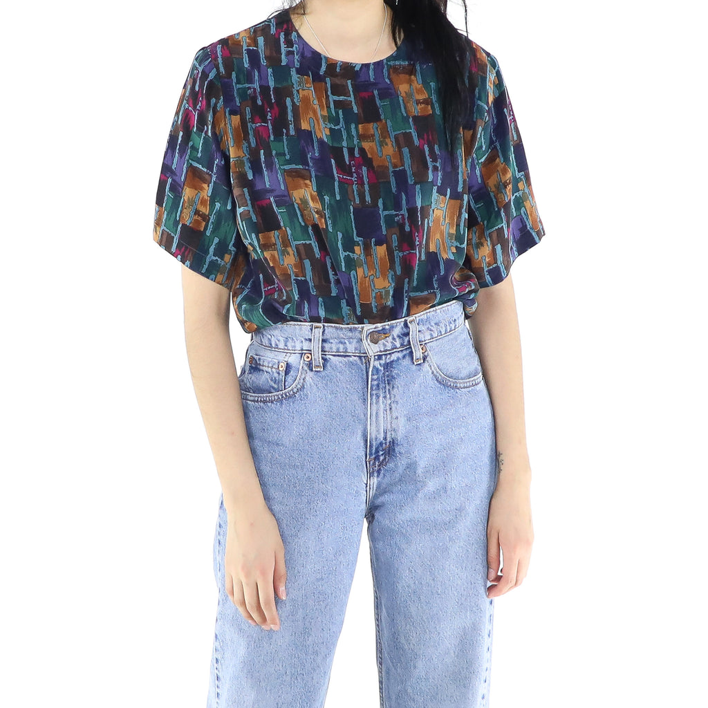 Multicolour Abstract Blouse
