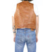 Tobacco Leather Vest