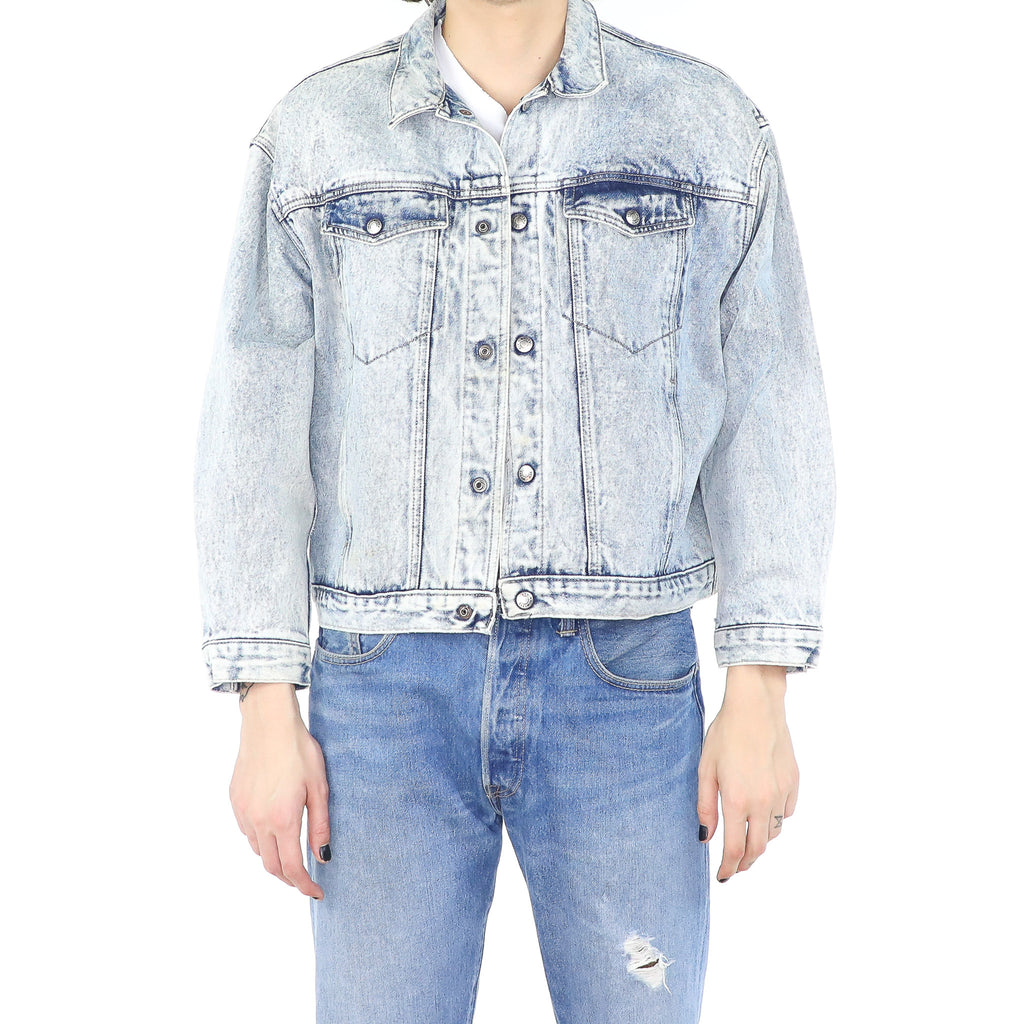 Sandblasted Denim Jacket