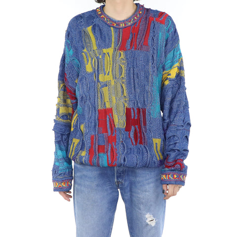 Neon Rainbow Coogi Sweater