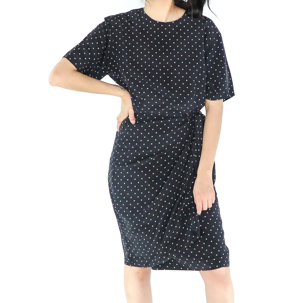 Dotted Swiss Black & White Dress