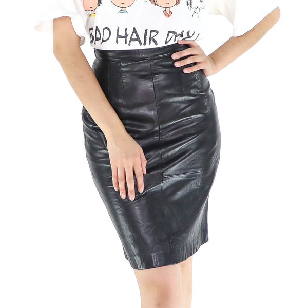 Bodycon Leather Skirt