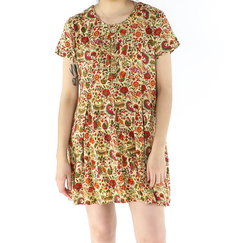 Atomic Orange Flowers Dress