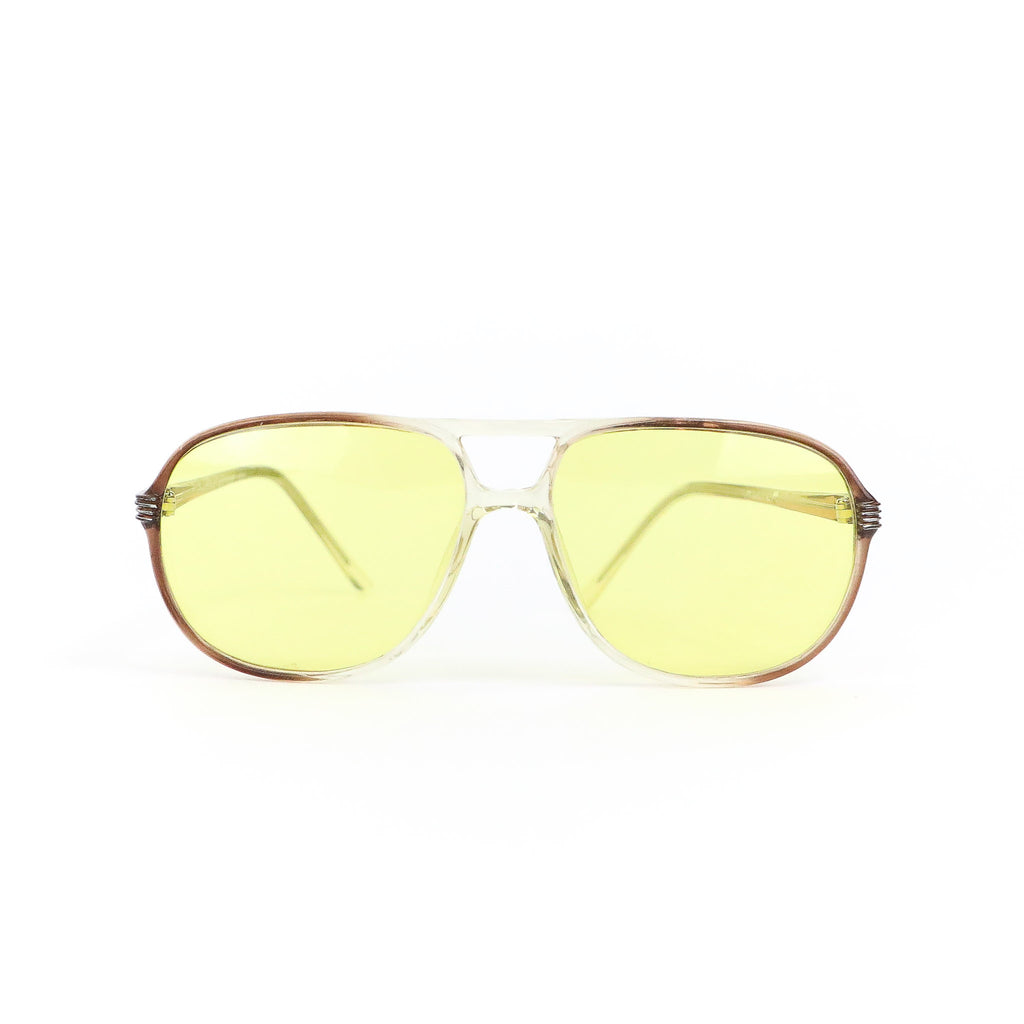 Clear Amber Vintage Sunglasses