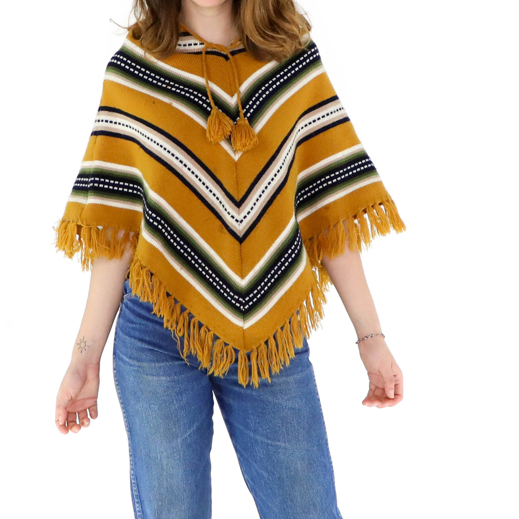 Honey Orange Poncho