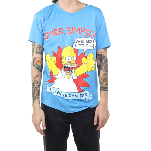 Homer Simpson Pretty Blue T-Shirt