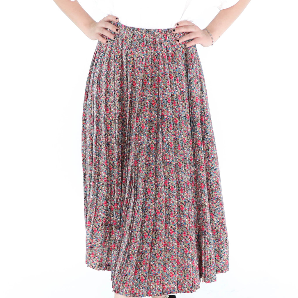 Flowers on Paisley Skirt
