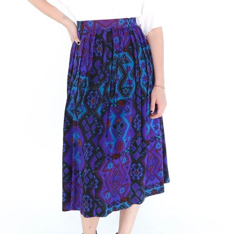 Purple & Blue Navajo Skirt