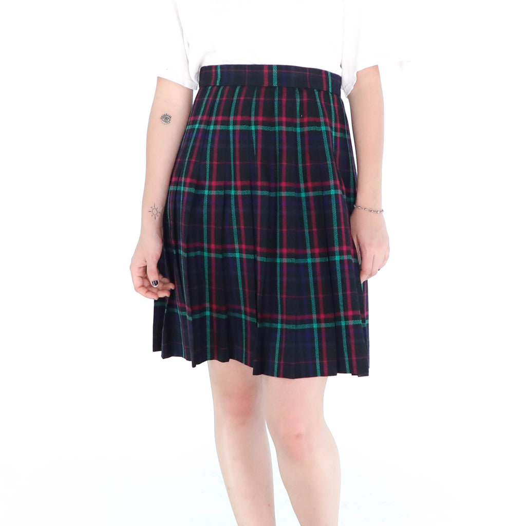 Red & Blue Plaid Skirt