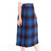 Neon Blue Plaid Skirt