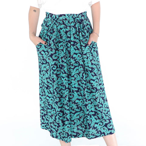 Ornamental Duck Blue Skirt