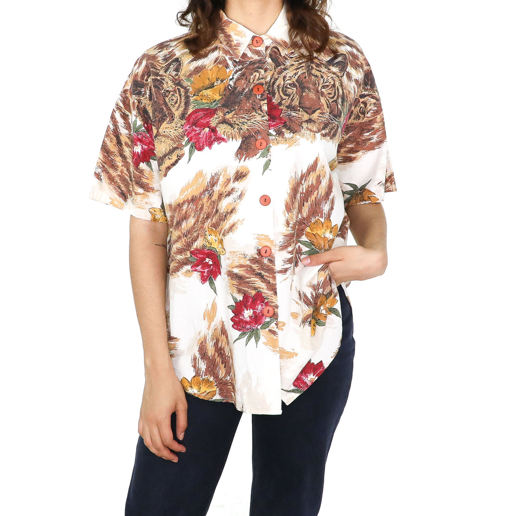 Tiger Flowers Blouse