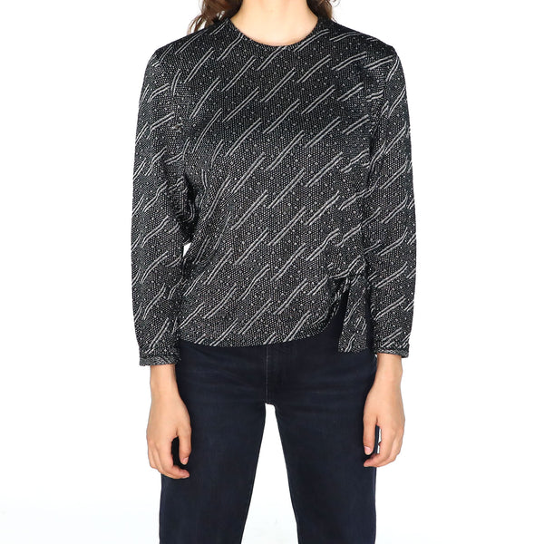 Silver Lines Sweater