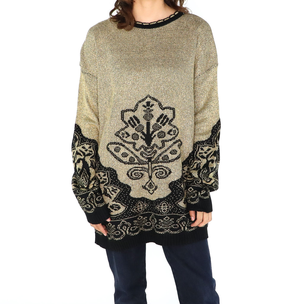 Golden Tree Sweater