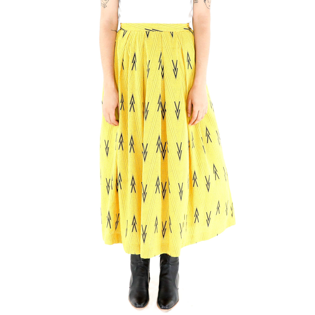 Black Arrows on Yellow Skirt
