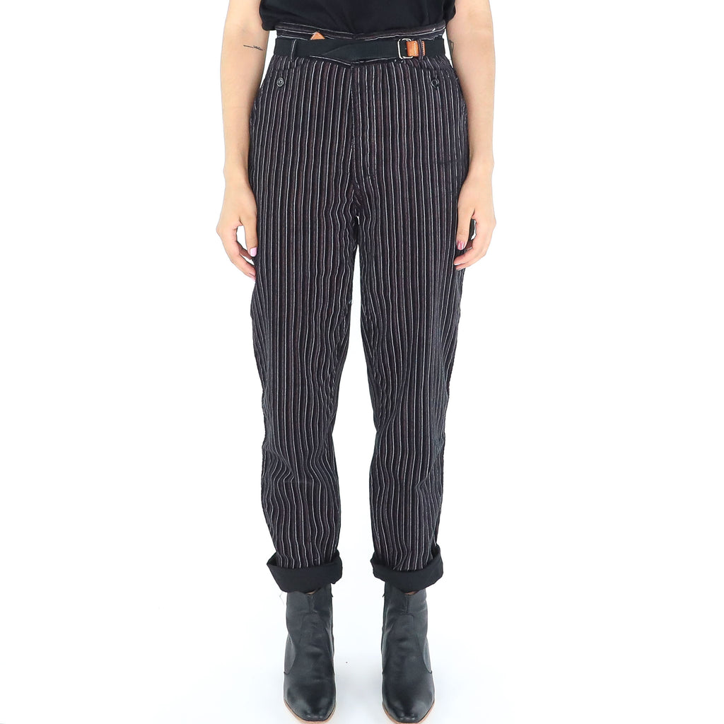 Dark Pinstripe Pants